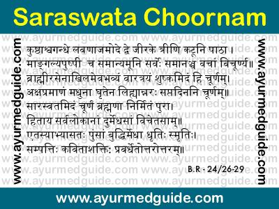 Saraswata Choornam