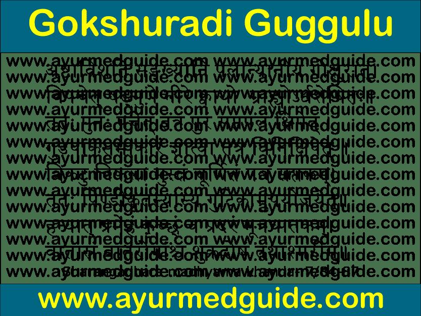 Gokshuradi Guggulu